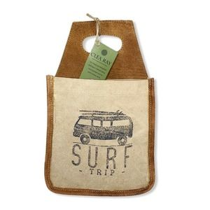 Clea Ray Leather & Canvas Surf Trip Beer Caddy